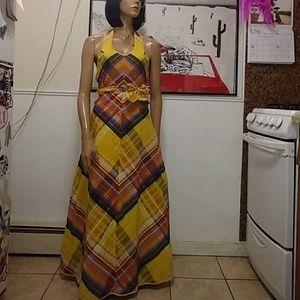 Vintage 70s Sunshine Wrap Dress 🌞